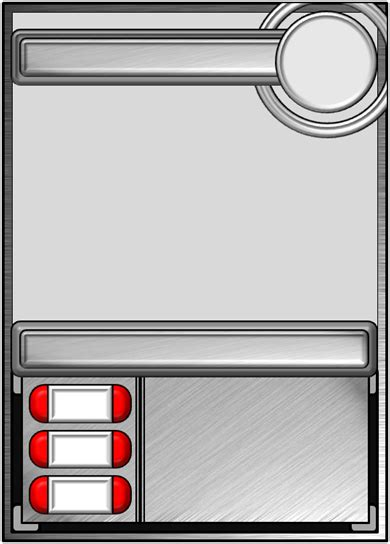 Template 1 By The Fame On Deviantart Trading Card Design Template