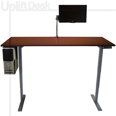 standing desk cable management the uplift complete height adjustable stand up desk is a