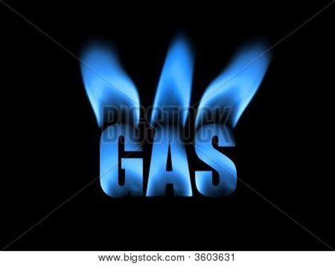 picture or photo of the word gas built from photos of a