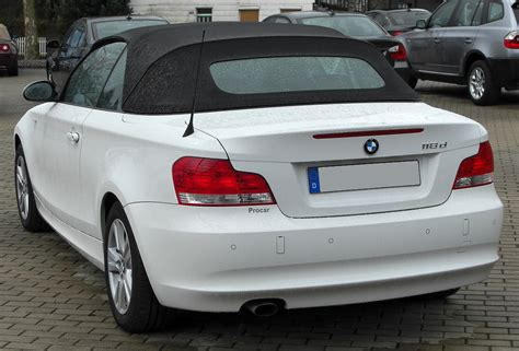 Bmw 1er Cabrio Wiki by File Bmw 118d Cabriolet Rear 20100411 Jpg Wikimedia Commons