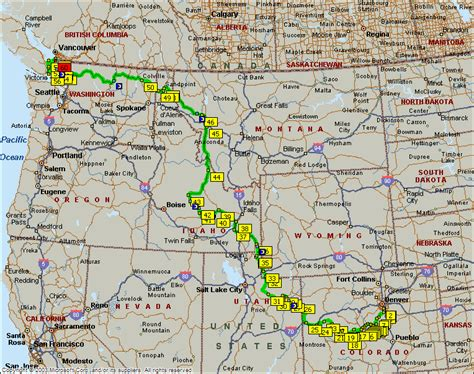 map of oregon idaho and utah maps of montana and wyoming
