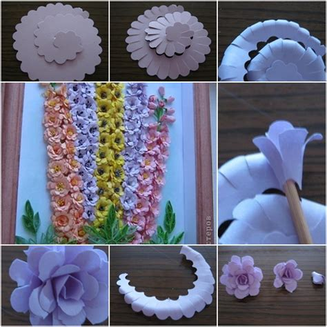 How To Make Beautiful Flowers With Paper - how to make beautiful quilling paper flower wall fab