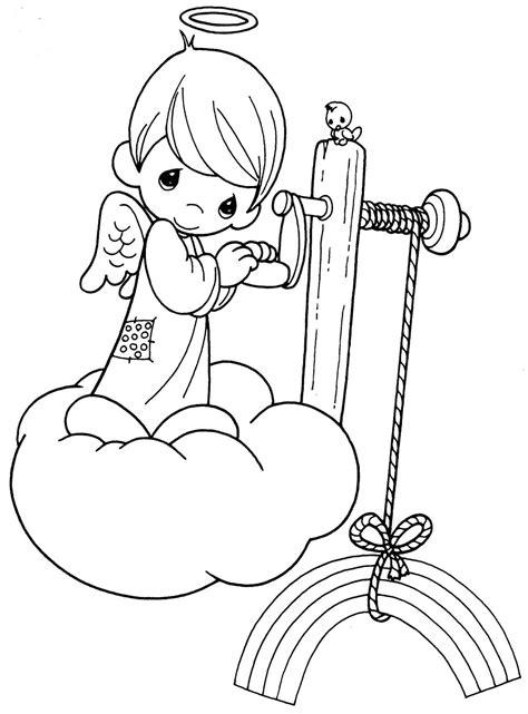 dibujos navideños para colorear preciosos momentos precious moments angels coloring pages para colorear de