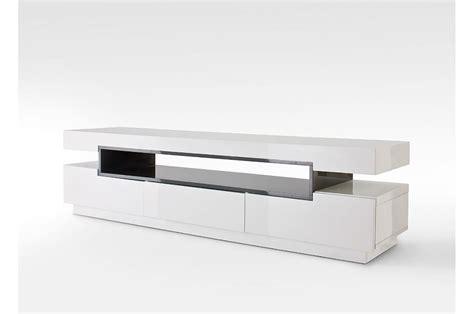 Meuble Tv Laque Blanc Brillant by Meuble Tv Design Blanc Laqu 233 Cbc Meubles