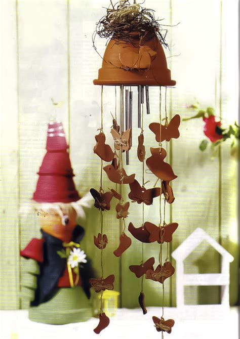 How To Make Decorative Balls Wind Chime Made Of Clay Flower Pot With Dangling Ducks And