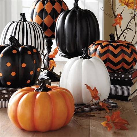 home decor chic painted pumpkins