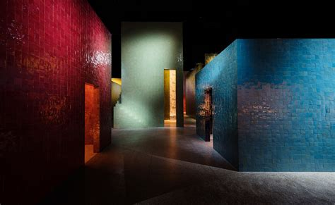 hermes brings colour salone del mobile  zellige houses