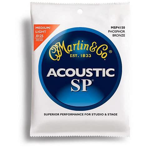 Martin Msp4150 Sp Phosphor Light Medium Acoustic Guitar Light Medium Guitar Strings