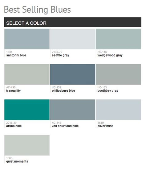 best selling paint colors benjamin moore best selling blues color paint