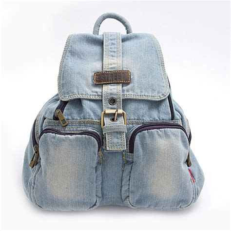 Denim Backpack aliexpress buy fashion backpack vintage backpacks for casual school