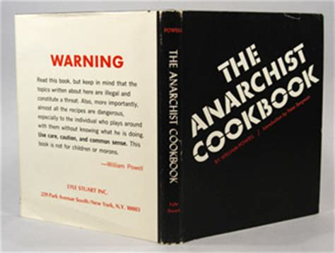 the author of the anarchist cookbook urges his publisher