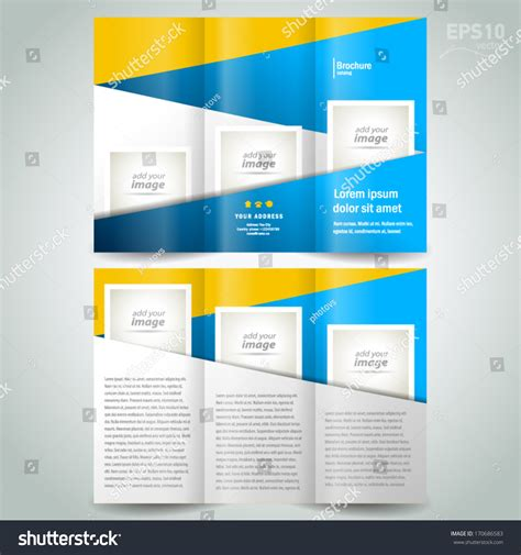 brochure template yellow brochure design template geometric abstract element stock