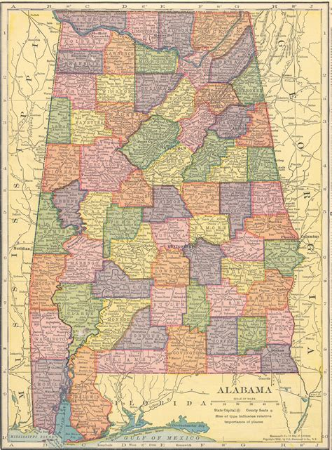 alabama map in usa the usgenweb archives digital map library hammonds 1910