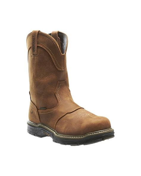 mens work boots brands wolverine 174 s anthem western wellington work boots
