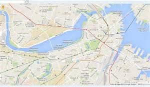 Boston T Map Overlay by Boston Subway Map