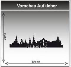 Autofolie Dresden by Skyline Dresden Wandtattoo Stadt Dresden Silhouette