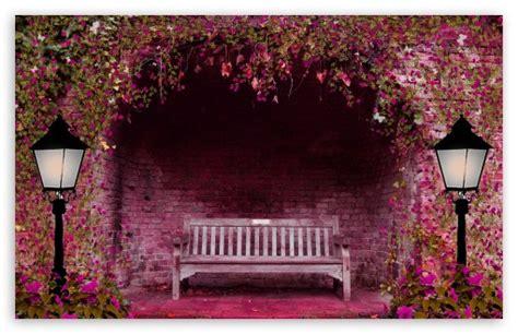 romantic bench ultra hd desktop background wallpaper