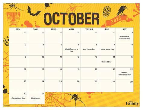printable calendar 2016 disney october 2016 disney villains printable calendar