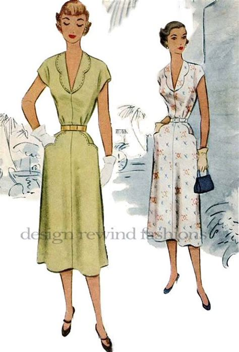 dress pattern with collar 10 best images about 1950 s pocket dresses on pinterest