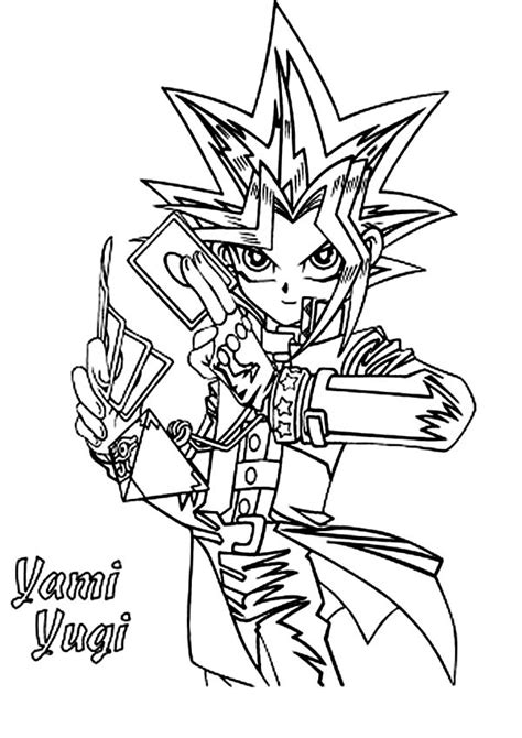 Coloring Page Yu Gi Oh by Yu Gi Oh Free Colouring Pages