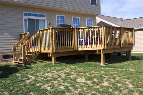 backyard wood deck ideas pleasant outdoor small deck designs inspirations for your