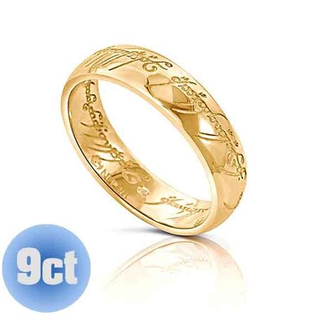 9ct lotr gold one ring with engraved the one ring lord