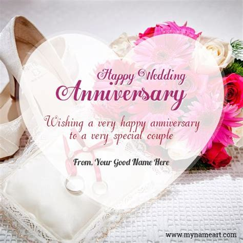 Wedding Anniversary Edit Name by Happy Wedding Anniversary Wishes For With Name
