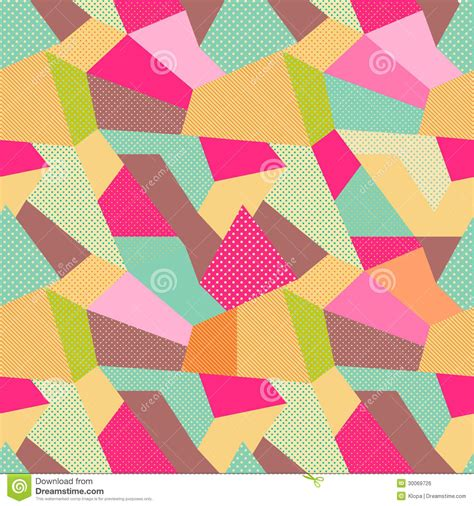 Patchwork Template - indian seamless patchwork pattern stock illustration
