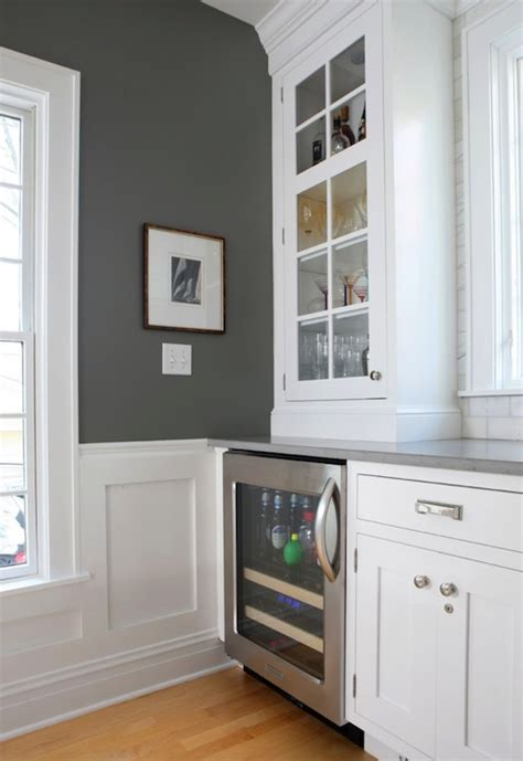 charcoal gray paint color contemporary kitchen benjamin chelsea gray normandy