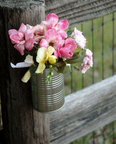 Tin Flower Vase by Tin Can Vase Tin Can Vases