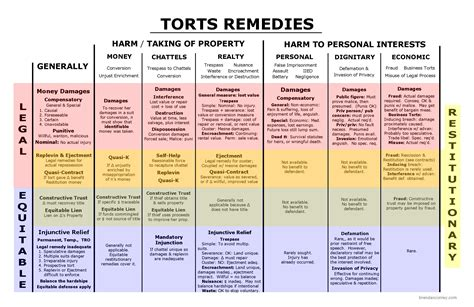 torts flowchart remedies big picture bar study materials