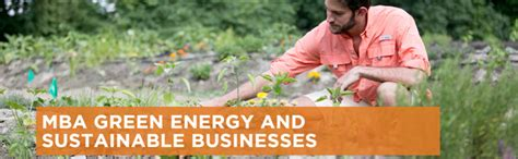 With An Mba In Enviromental Sustainability by Bbsl Mba In Green Energy Sustainable Business