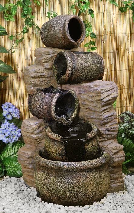 hcm cherika cascading oil jars water feature  ambiente
