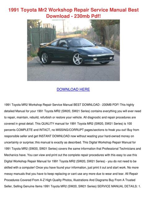 1991 dodge d250 service repair manual software servicemanualsrepair 1991 toyota mr2 workshop repair service manua by chassidyblackwell issuu