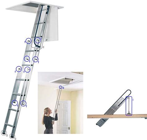3 Section Loft Ladders Uk by Abru Spare Parts Shop 3 Section Loft Ladders Uk Noir