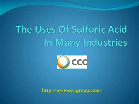 Ppt The Uses Of Sulfuric Acid In Many Industries Powerpoint Presentation Id 7342782 Ppt Of Acid