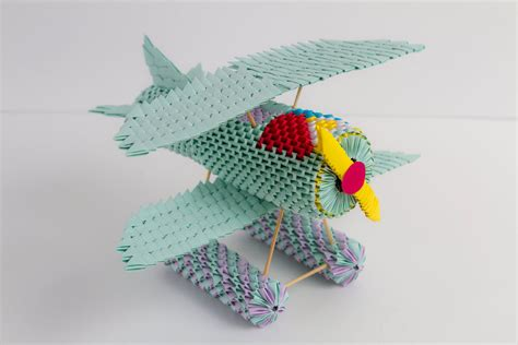 3d Origami Airplane - plane 3d origami by adelankhen on deviantart