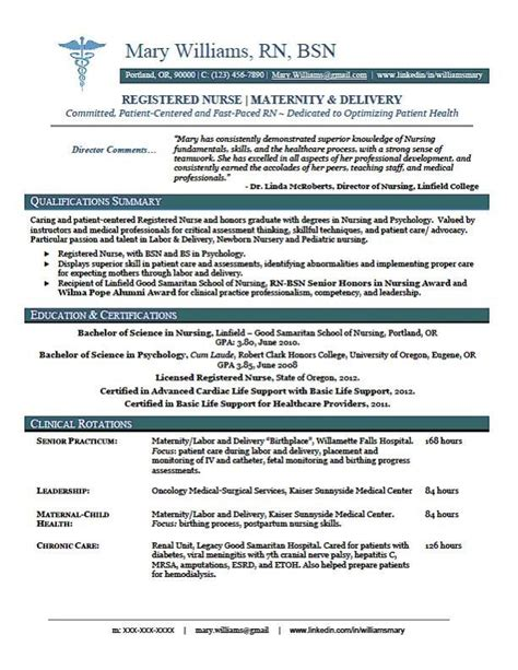 sample new rn resume   RN New Grad Nursing Resume