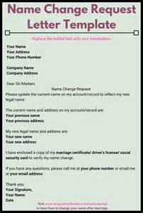 Deed Poll Name Change Letter Template by Name Change Template 5 Name Change Notification Letter
