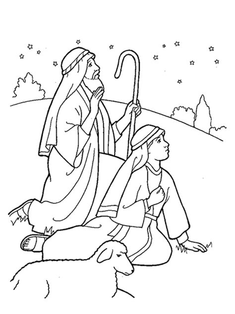 lds nativity coloring pages printable nativity shepherds