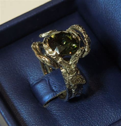 handmade tree branch puzzle engagement ring by cicmil