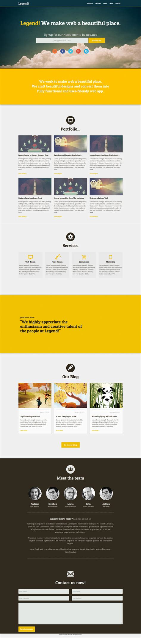 simple website template freebie download photoshop resource psd repo