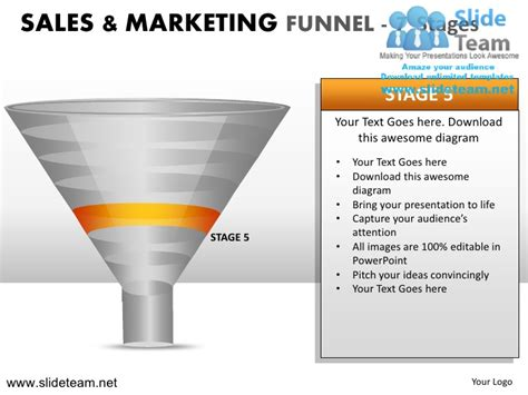 Mba In Sales And Marketing Abroad by Sales And Marketing Funnel 7 Stages Powerpoint
