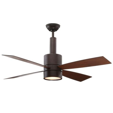 casablanca 52 ceiling fan casablanca piston 52 in led indoor outdoor brushed slate