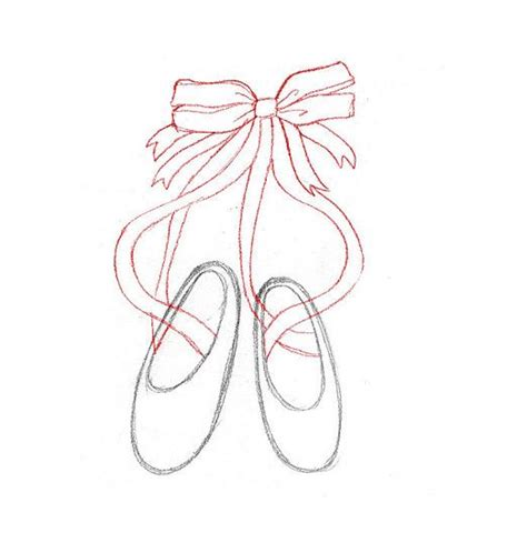 how to draw ballet slippers how to draw ballet slippers