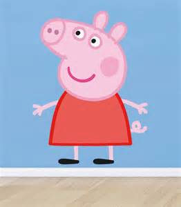 Peppa Pig Wall Stickers Huge Peppa Pig Decal Removable Wall Sticker Home Decor Art