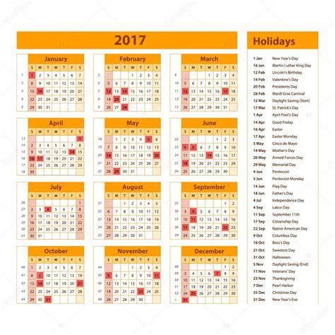Calendario 2017 Con Dias Festivos Marcados Simple Calendario 2017 Marcados Con Los D 237 As Festivos De