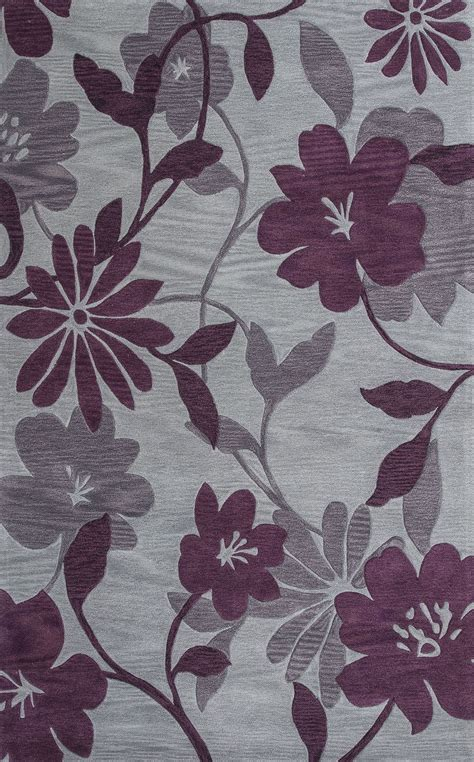 plum and rug bali grey and plum elegance 66 quot x 66 quot rug bai286156x56ro kas rugs