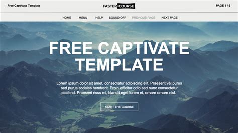 adobe captivate free templates free responsive captivate course template from