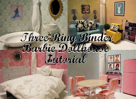 how to make barbie doll house how to make a stunning diy barbie dollhouse from binders